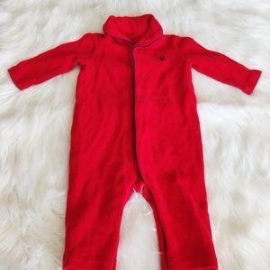 Ralph Lauren Baby Red Long Sleeve Onesie